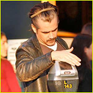 Colin Farrell Keeps Long Hair in Headband for Yoga Class