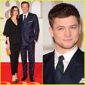 Colin Firth & Taron Egerton Suit Up at 'Kingsman: The Secret Service' London Premiere!