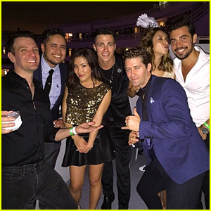 Colton Haynes Parties with Matthew Morrison & JC Chasez