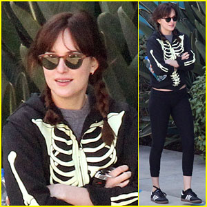 Dakota Johnson Shows Her Bones After a Working Out with a Friend