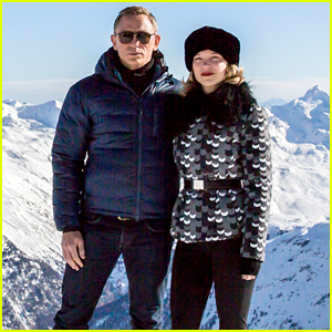 Daniel Craig Brings 'Spectre' to the Snowy Alps!