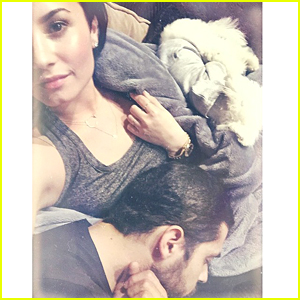 Demi Lovato Shares Adorable Snap With Boyfriend Wilmer Valderrama & Pup Buddy