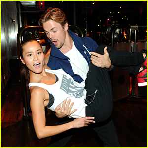 Derek Hough & Jamie Chung Go for the Dip at Beyonce Dance Class!