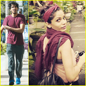Dev Patel Works Out After Freida Pinto Says Goodbye to 2014