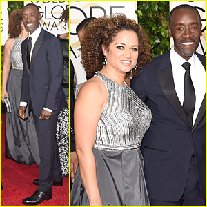 Don Cheadle Brings Partner Brigid Coulter to Golden Globes 2015