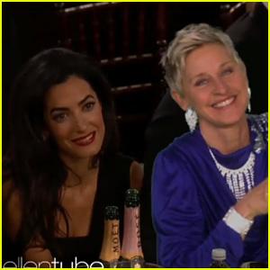 Ellen DeGeneres Spoofs George Clooney's Golden Globes Speech In the Funniest Way - Watch Now!