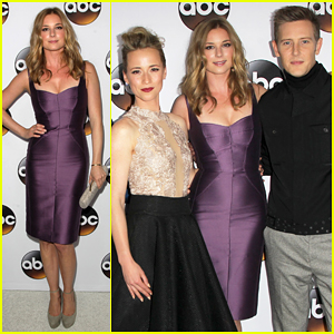 Emily VanCamp Gets Dolled Up with 'Revenge' Cast for TCA Press Tour 2015!