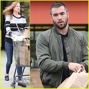 Emily VanCamp & Josh Bowman Go Shopping for Groceries