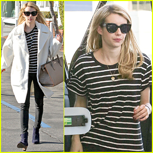 Emma Roberts Gets Ready For 2015 By Shopping Til She Drops
