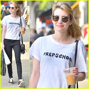 Emma Roberts Kicks Off Golden Globes Weekend in Larchmont Village