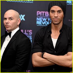 Enrique Iglesias & Pitbull Ring in the New Year in Miami