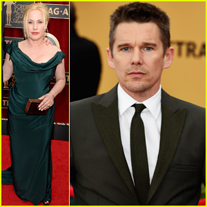 Ethan Hawke & Patricia Arquette Bring Their Significant Others to SAG Awards 2015