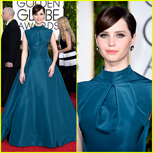 Felicity Jones Is 'Everything' at the Golden Globes 2015