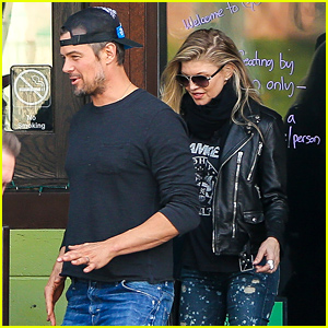 Fergie & Josh Duhamel Watch the Championship Football Games at a Local Bar!