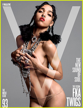 FKA twigs Goes Topless, Looks Nearly Naked for 'V' Magazine!