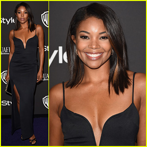 Gabrielle Union Cheers On Her Hubby Before the Golden Globes 2015 Party!