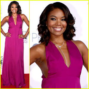 Gabrielle Union Turns Heads on the People's Choice Awards 2015 Red Carpet!