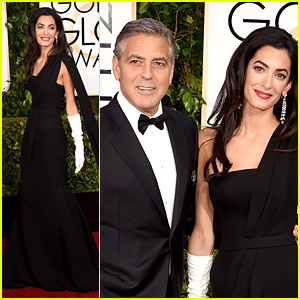 George Clooney & Wife Amal Walk the Golden Globes 2015 Red Carpet!