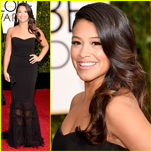Gina Rodriguez Oozes Class at Golden Globes 2015
