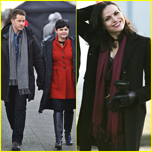 Ginnifer Goodwin & Josh Dallas Show Some PDA on the 'Once Upon a Time' Set