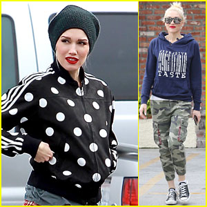 Gwen Stefani Heads to the Studio to Spend Time On Her Music
