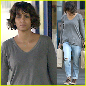Halle Berry Goes Makeup Free to Run Her Errands
