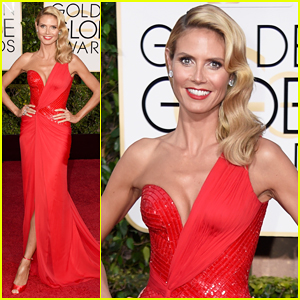 Heidi Klum Is Picture Perfect on Golden Globes 2015 Red Carpet!