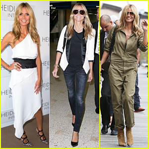 Heidi Klum Officially Launches Her Intimates Line in Sydney Looking White Hot!