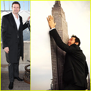 Hugh Jackman Honors Australia Day By Climbing the Empire State Building