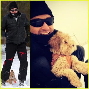 Hugh Jackman Plays in the Snow With His 'Slighty Frozen' Pups