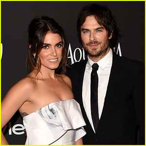 Nikki Reed & Ian Somerhalder Keep Close at the InStyle Golden Globes 2015 Party