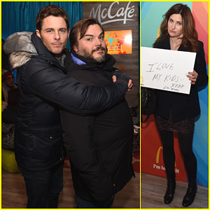 James Marsden & Jack Black Get Their Cuddle On at Sundance
