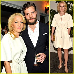 Jamie Dornan & Gillian Anderson Make Us 'Fall' For Them at W Mag's Pre-Golden Globes Party 2015