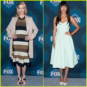 January Jones & Hannah Simone Doll Up for Fox TCA Bash