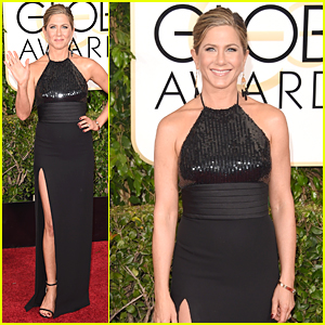 Jennifer Aniston Rocks Sexy High-Slitted Dress on Golden Globes 2015 Red Carpet