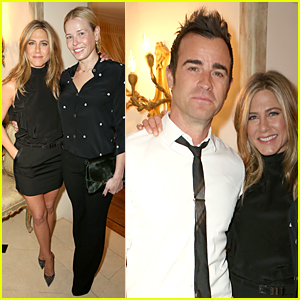 Jennifer Aniston Is Glowing With Fiance Justin Theroux By Her Side at 'Cake' Luncheon