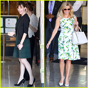 Jennifer Garner & Reese Witherspoon Go Green at Molly Sims' Baby Shower