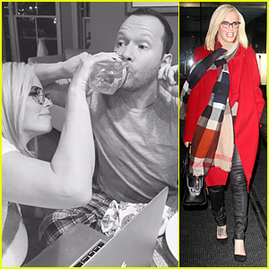 Jenny McCarthy Stops Donnie Wahlberg's Hiccups By Feeding Him Water!