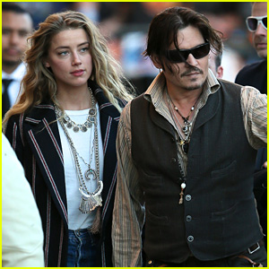 Johnny Depp Hits Up 'Jimmy Kimmel Live' with Amber Heard