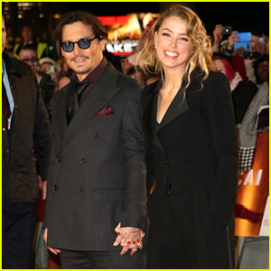Johnny Depp & Amber Heard Look Happier Than Ever at His 'Mortdecai' Premiere