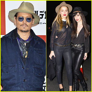 Johnny Depp Hits Tokyo for 'Mortdecai' Press After Getting Support from Fiance Amber Heard at Anaheim Charity Concert!