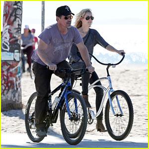 Josh Brolin & His Girlfriend Kathryn Boyd Take a Bike Ride Together