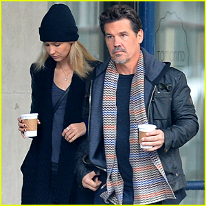 Josh Brolin & His Girlfriend Kathryn Boyd Keep Close For Their Coffee Run