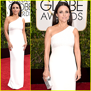 Julia Louis-Dreyfus is White Hot on Golden Globes 2015 Red Carpet