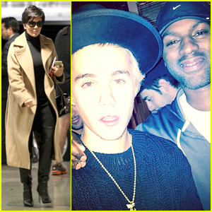 Justin Bieber Celebrates Calvin Klein Deal with Kris Jenner's Boyfriend & More