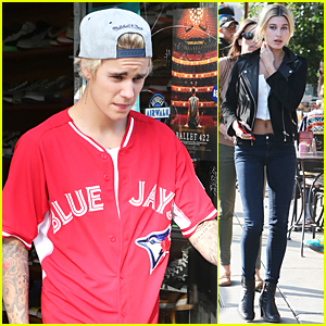 Justin Bieber & Hailey Baldwin Grab Lunch For Second Straight Day!