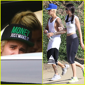 Justin Bieber Lunches it Up with Hailey Baldwin After Hiking with Kendall Jenner