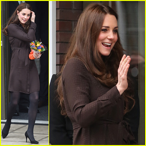 Kate Middleton Steps Out with Growing Baby Bump to Visit The Fostering Network!