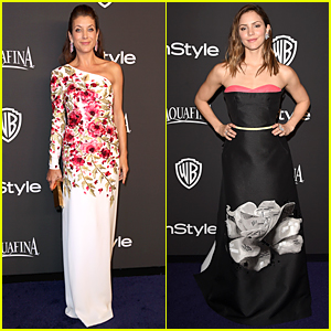 Kate Walsh & Katharine McPhee Make a Floral Statement at InStyle Golden Globes Party 2015
