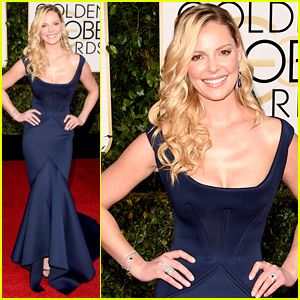Katherine Heigl Shows Off Curves at Golden Globes 2015
